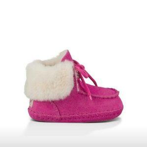 UGG Australia Moccasin Booties (Pink) F-3